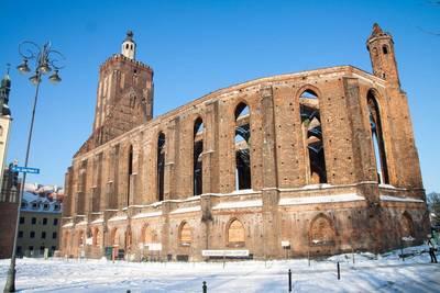 Die Stadt- und Hauptkirche in Gubin im verschneiten Januar diesen Jahres.