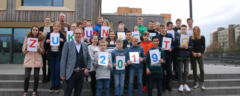 Gruppe von Schülerinnen und Schülern des Zukunftstages 2019