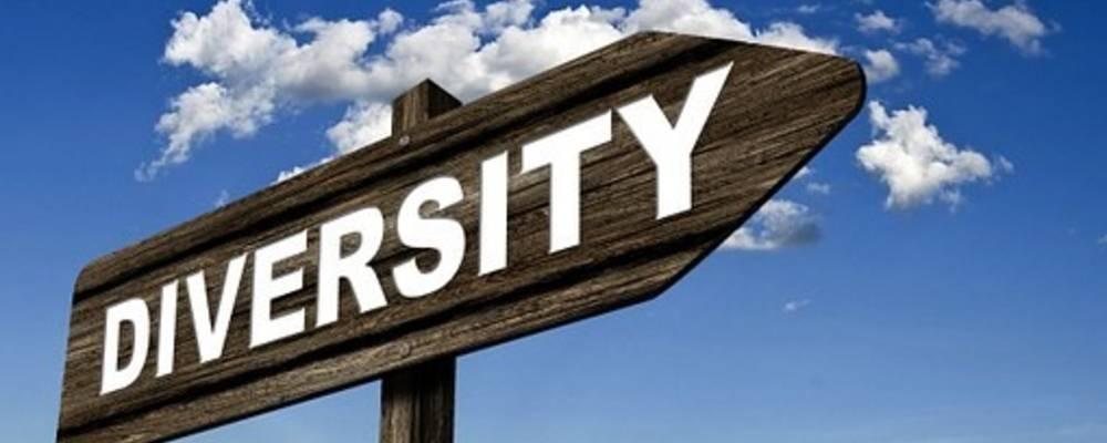 Wegweiser mit dem Schriftzug 'Diversity'