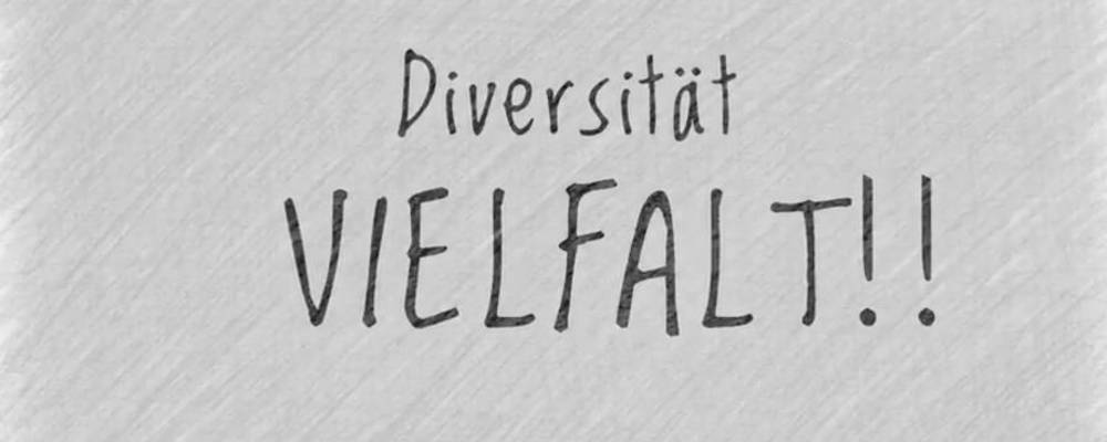 Schriftzug Diversität