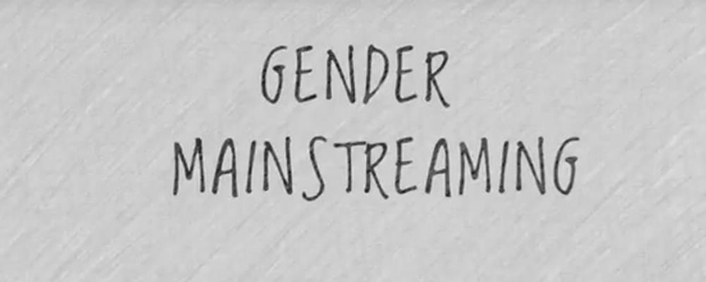 Schriftzug Gender Mainstreaming