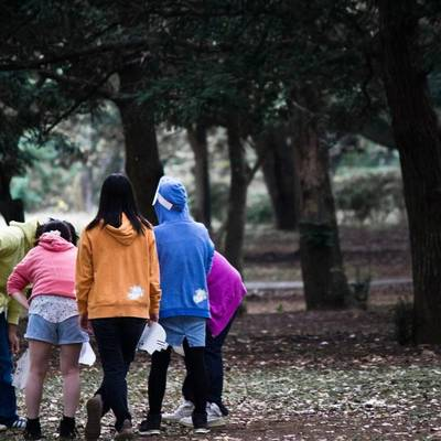 Gruppe Teenager im Park