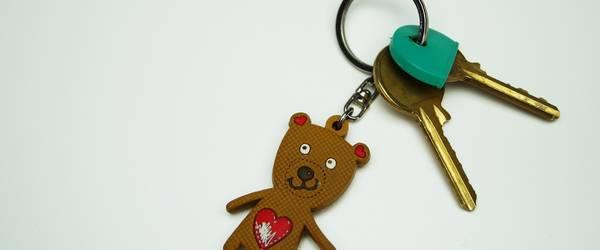 selbst gebastelter Schlüsselanhänger, Teddybär ©Pixabay
