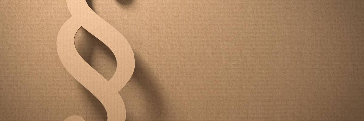 Paragraphenzeichen aus Pappe ausgestanzt ©Pixabay