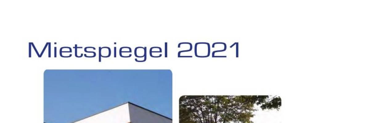 Titel des Mietspiegels Laatzens mit verschiedenen Häuser-Fotos