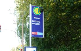Bushaltestellenschild Laatzen ©Stadt Laatzen