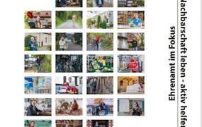 Buchtitel mit vielen kleinen Fotos von Menschen. ©Demokratie leben/Daniel Junker