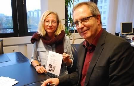 Jürgen Köhne mit Gleichstellungsbeauftragter Nicole Hendrych