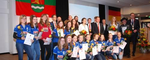 Sportlerinnen und Sportler des Jahres 2018   ausgezeichnet auf dem Neujharsempfang der Stadt Laatzen