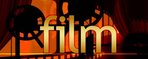 goldener Schriftzug Film