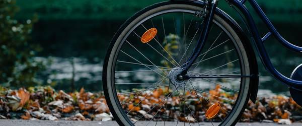 Vorderrad eines Fahrrades