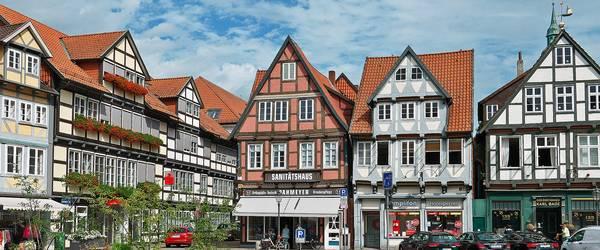 Fachwerkhäuser auf dem Celler Marktplatz