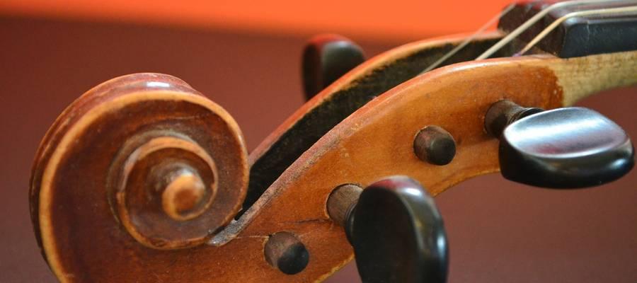 Hals einer Violine